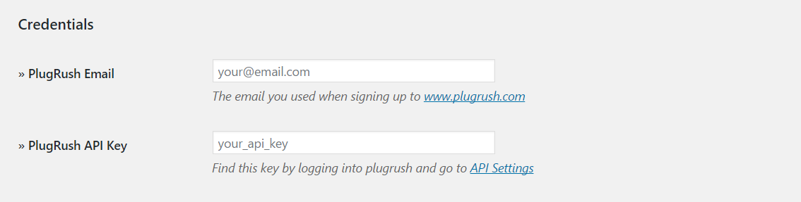 Install Plugrush WordPress Plugin
