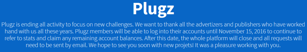 Plugz Shutting Down - List of Plugz Alternatives
