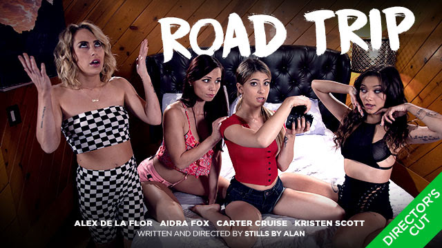Kristen Scott Rounds Up the Girls for a Road Trip For Girlsway